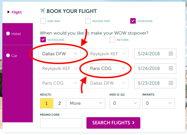 WOW Air Stopover Layover Travel Deal