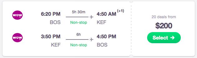 Boston Iceland Travel Deal