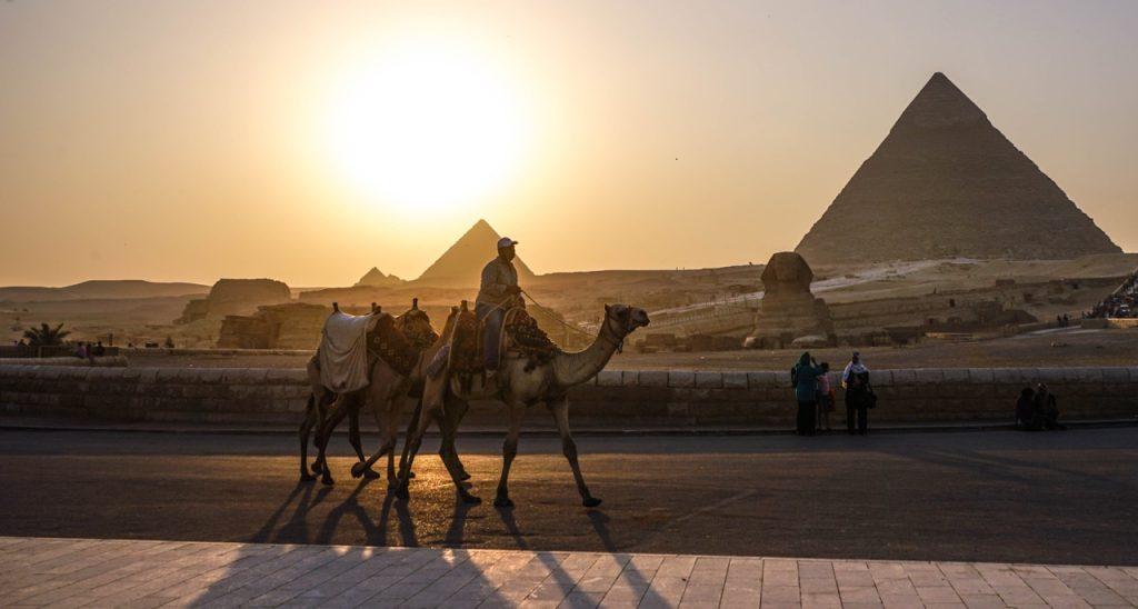 Giza Pyramids, Egypt Sunset