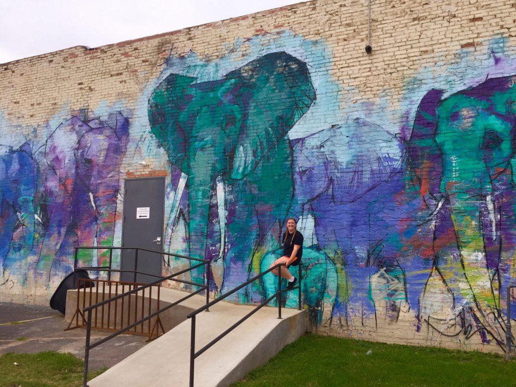 Elephant Mural Travel Dallas