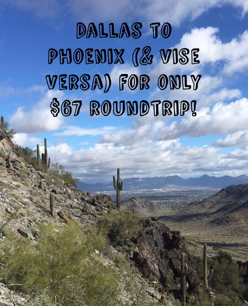Arizona Texas Travel Deal