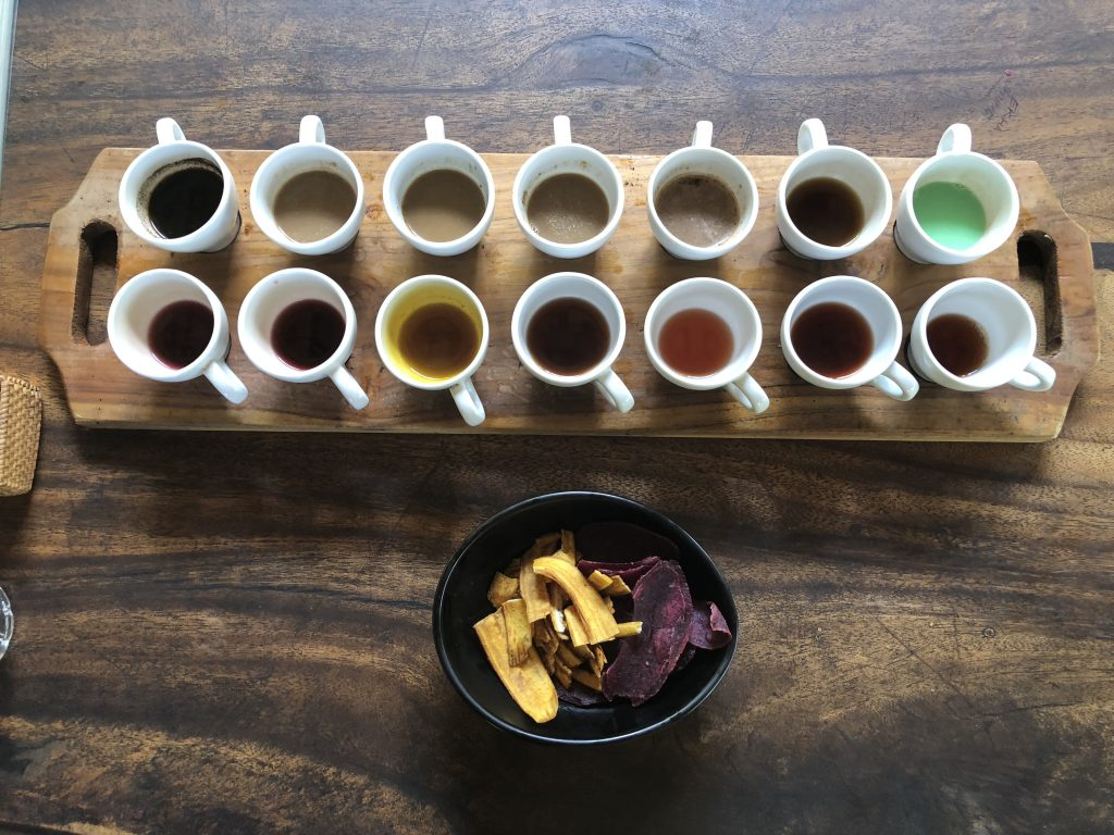 coffee tea tasting bali swing ubud indonesia