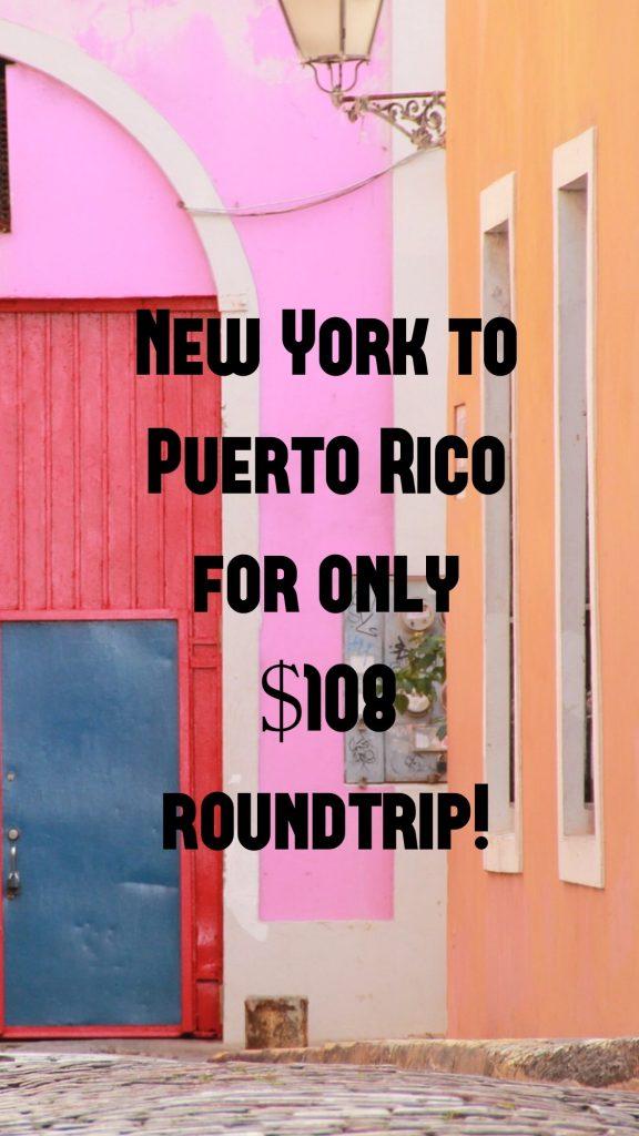 New York to Puerto Rico