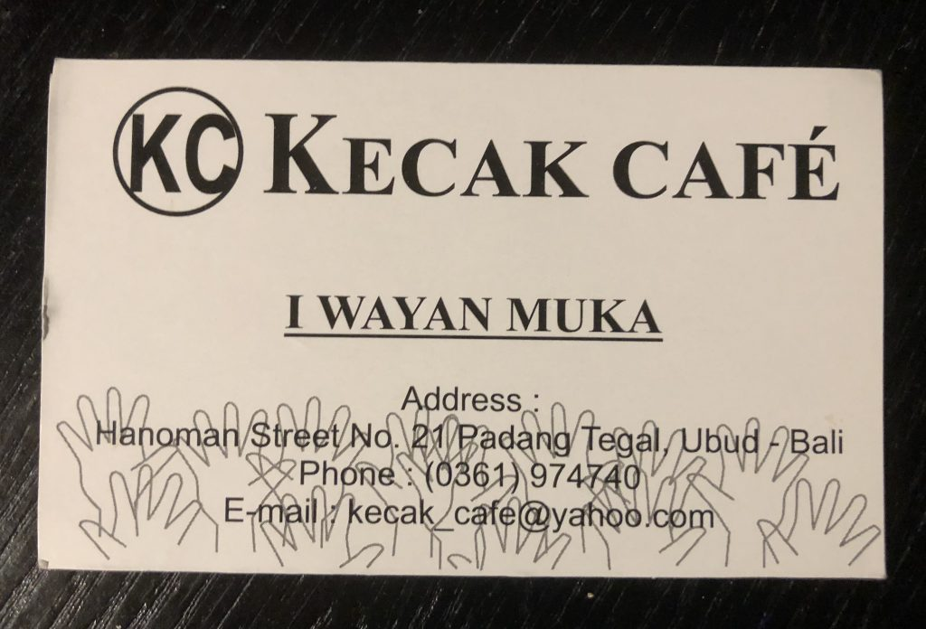 Kecak Cafe Contact Information