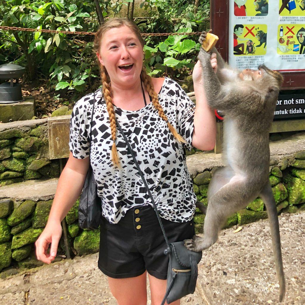 Visiting the Monkey Forest Ubud Bali