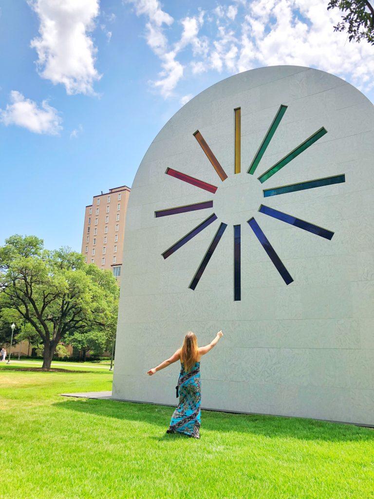 Blanton Museum of Art Austin Texas Ellsworth Kelly Art Piece