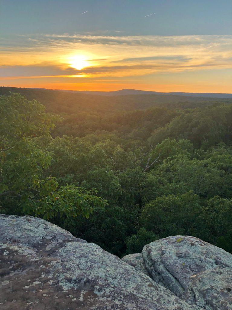 Garden of the Gods Southern Illinois Harrisburg Shawnee National Forest Hiking Budget Travel Sunset