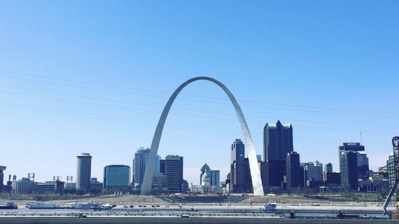 STL Skyline View St. Louis Missouri Malcolm W. Martin Memorial Park