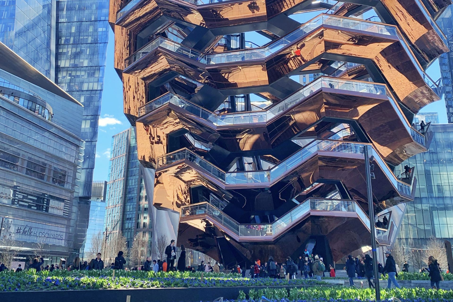The Vessel Stairs Hudson Yards New York City Travel Shopping
